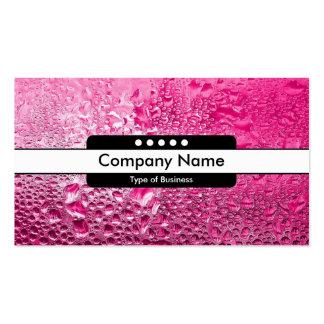 Center Band 5 Spots - Steamy Pink Business Card