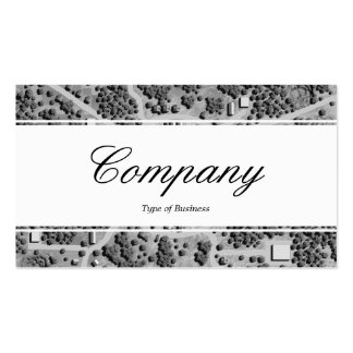 Center Band (edged) - Script - Imaginary Landscape Business Card Templates