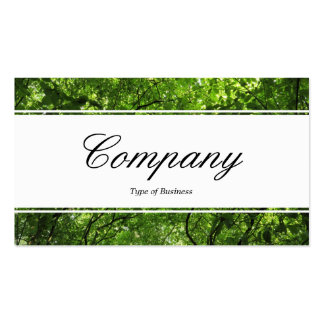 Center Band (edged) - Woodland Canopy Double-Sided Standard Business Cards (Pack Of 100)