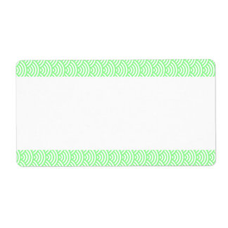 Center Band - Fish Scale Pattern Shipping Label