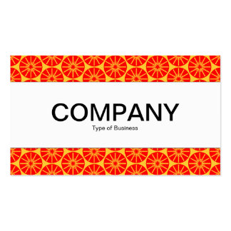 Center Band - Star Wheel - Red on Amber Double-Sided Standard Business Cards (Pack Of 100)