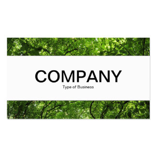 Center Band  - Woodland Canopy Double-Sided Standard Business Cards (Pack Of 100)