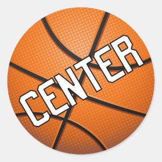 Center Basketball Classic Round Sticker