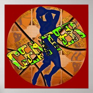 Center Basketball Player Poster