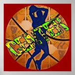 Center Basketball Player Print