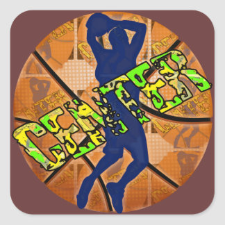 Center Basketball Player Square Sticker