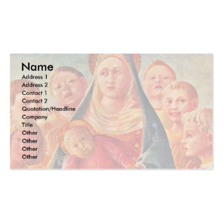 Center Detail Of Madonna And Child Business Cards
