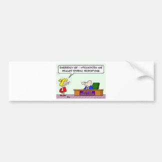 center for disease control hypochondria epidemic bumper sticker