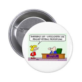 center for disease control hypochondria epidemic button