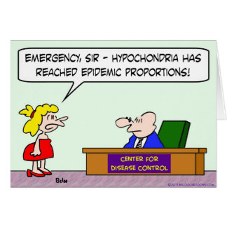center for disease control hypochondria epidemic cards