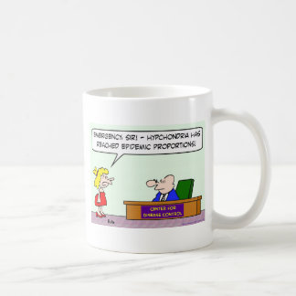 center for disease control hypochondria epidemic coffee mugs