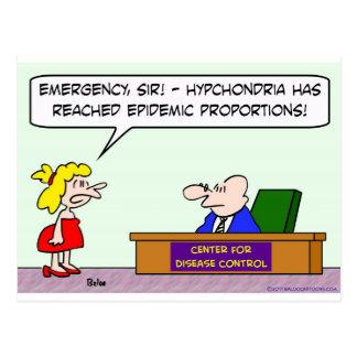 center for disease control hypochondria epidemic postcard