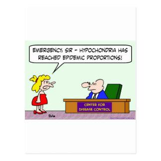 center for disease control hypochondria epidemic postcards
