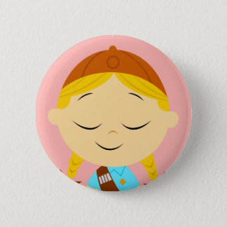 center girl _ girl scout blonde button