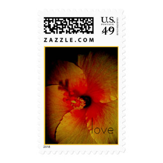 center in, love postage stamps