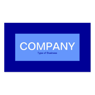 Center Label - Baby Blue with Blue 000099 Business Card