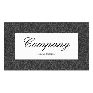 Center Label - Dark Gray Embossed Texture Business Card