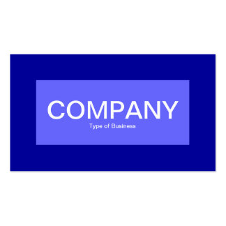 Center Label - Electric Blue with Blue 000099 Business Card