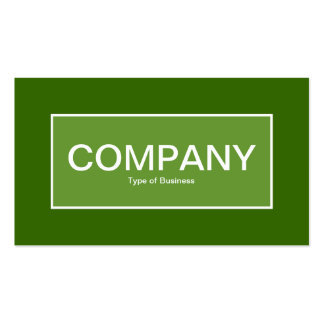 Center Label II - Avocado Green with Green 336600 Business Card