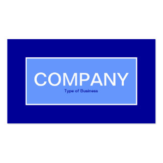 Center Label II - Baby Blue with Blue 000099 Business Card