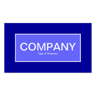 Center Label II - Electric Blue with Blue 000099 Business Card