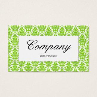 Center Label - Martian Green Damask Business Card