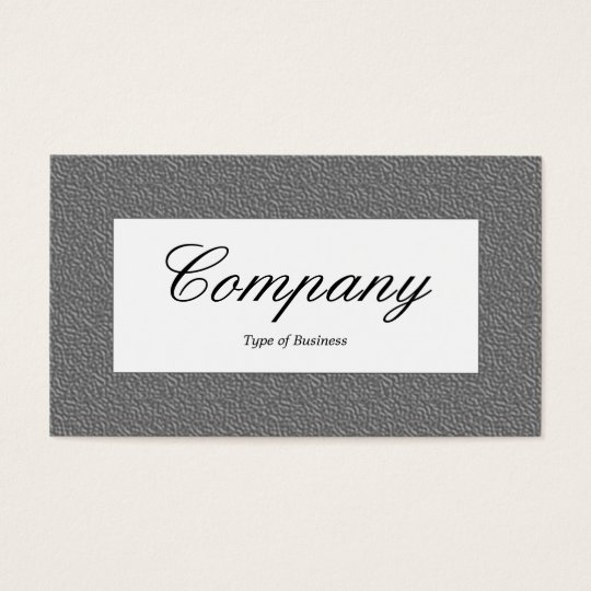 Center Label - Mid Gray Embossed Texture Business Card