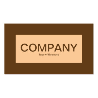Center Label - Sand with Brown 633D18 Business Card