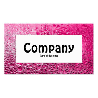 Center Label - Steamy Pink Business Card