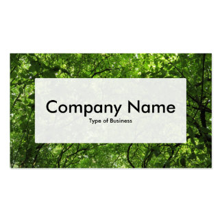 Center Label v3 - Woodland Canopy Double-Sided Standard Business Cards (Pack Of 100)