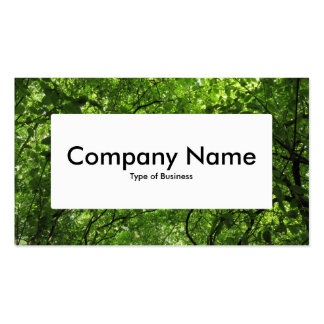 Center Label v4 - Woodland Canopy Double-Sided Standard Business Cards (Pack Of 100)