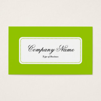 Center Label v5 - Martian Green Business Card