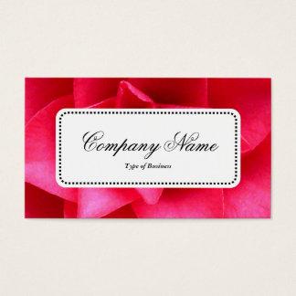 Center Label v5 - Red Camelia Business Card
