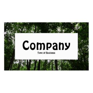 Center Label - Woodland Canopy 02 Double-Sided Standard Business Cards (Pack Of 100)
