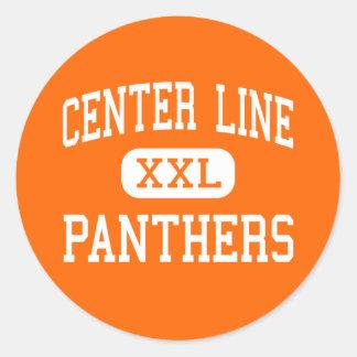 Center Line - Panthers - High - Center Line Classic Round Sticker