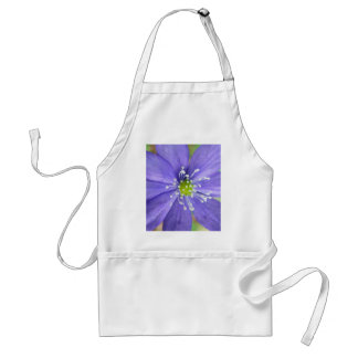Center of a blue flower with white stamps adult apron