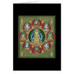 Center of a Taizokai Mandala Greeting Card