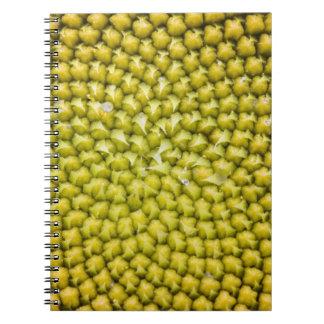 Center of giant Sunflower (Helianthus annuus) Notebook