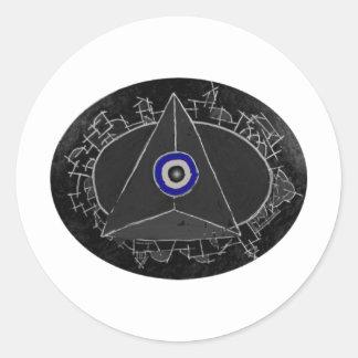 Center of Power Classic Round Sticker