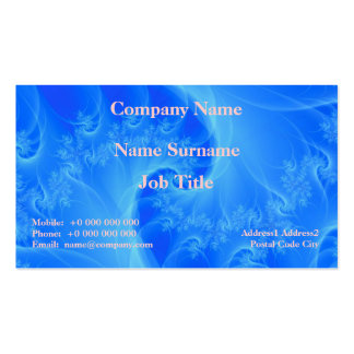 Center of the Blues Business Card Pack Of Standard Business Cards