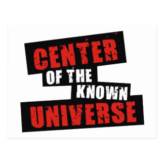 Center of the Known Universe Postcard