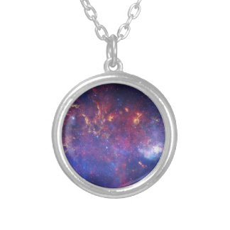 Center of the Milky Way Galaxy Round Pendant Necklace
