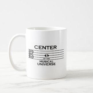 Center of the Musical Universe Alto Clef Design Coffee Mug