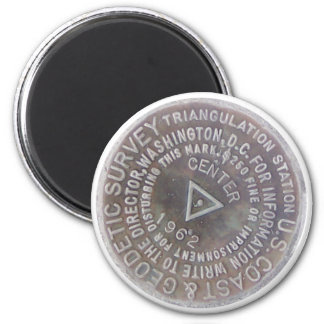 Center of the Nation 2 Inch Round Magnet