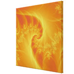 Center of the Orange Wrapped Canvas Gallery Wrapped Canvas