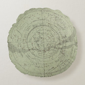 Center of the Southern Sky map Round Pillow