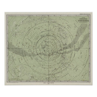 Center of the Southern Sky map Poster