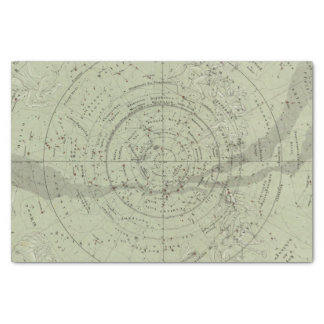 Center of the Southern Sky map Tissue Paper