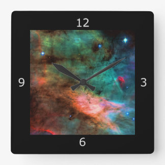 Center of The Swan Nebula Square Wall Clock