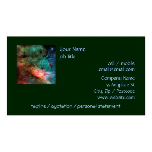 Center of The Swan Nebula Double-Sided Standard Business Cards (Pack Of 100)